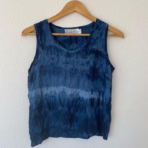 90s vintage tie dye blue tank